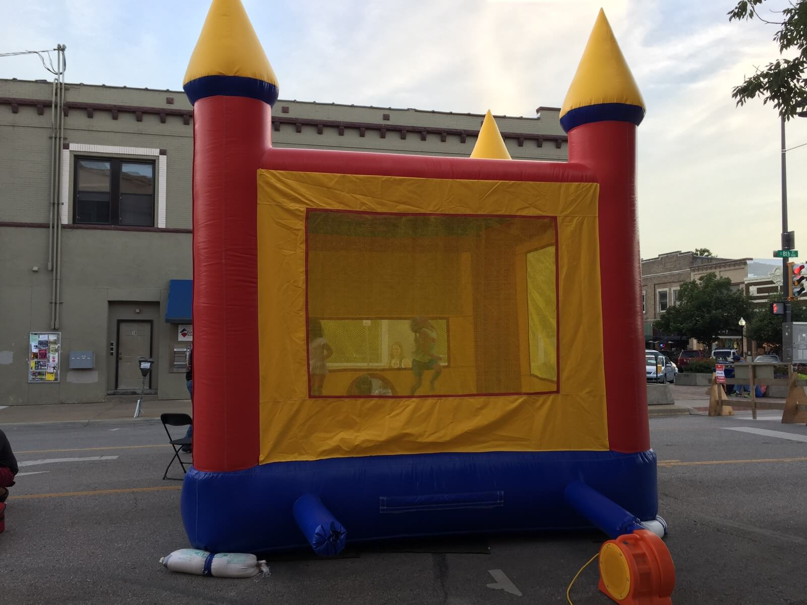 Bouncey house at the Django Birthday party
